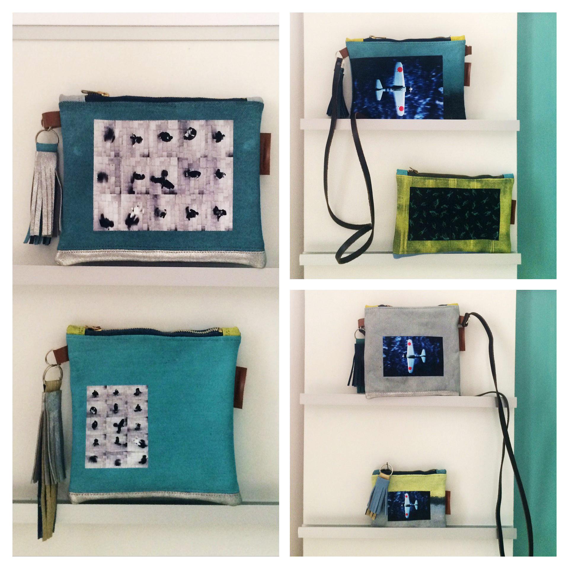 Újrahasznosított anyagból készült designer táska 15000.- HUF