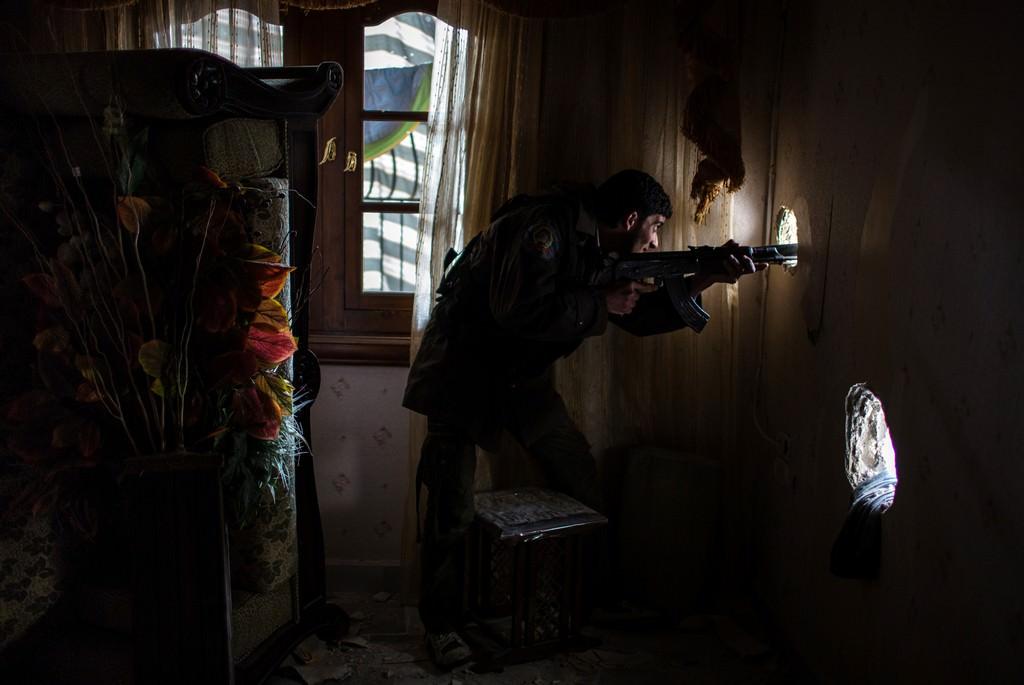 Aleppó, Szíria, 2013. február 15. Fotó: Bielik István