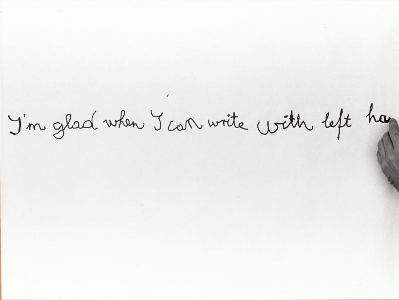 Tót Endre: Örülök, ha bal kézzel írhatok (I am glad if I can write with left hand), 1971-1976/2015