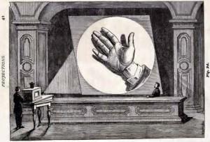 Illusztráció A. E. Dolbear The Art Of Projecting (Boston, 1877) c. könyvéből