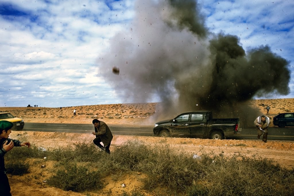 Ra\'s Lanuf, Líbia, 2011. március 9. Fotó: Sopronyi Gyula