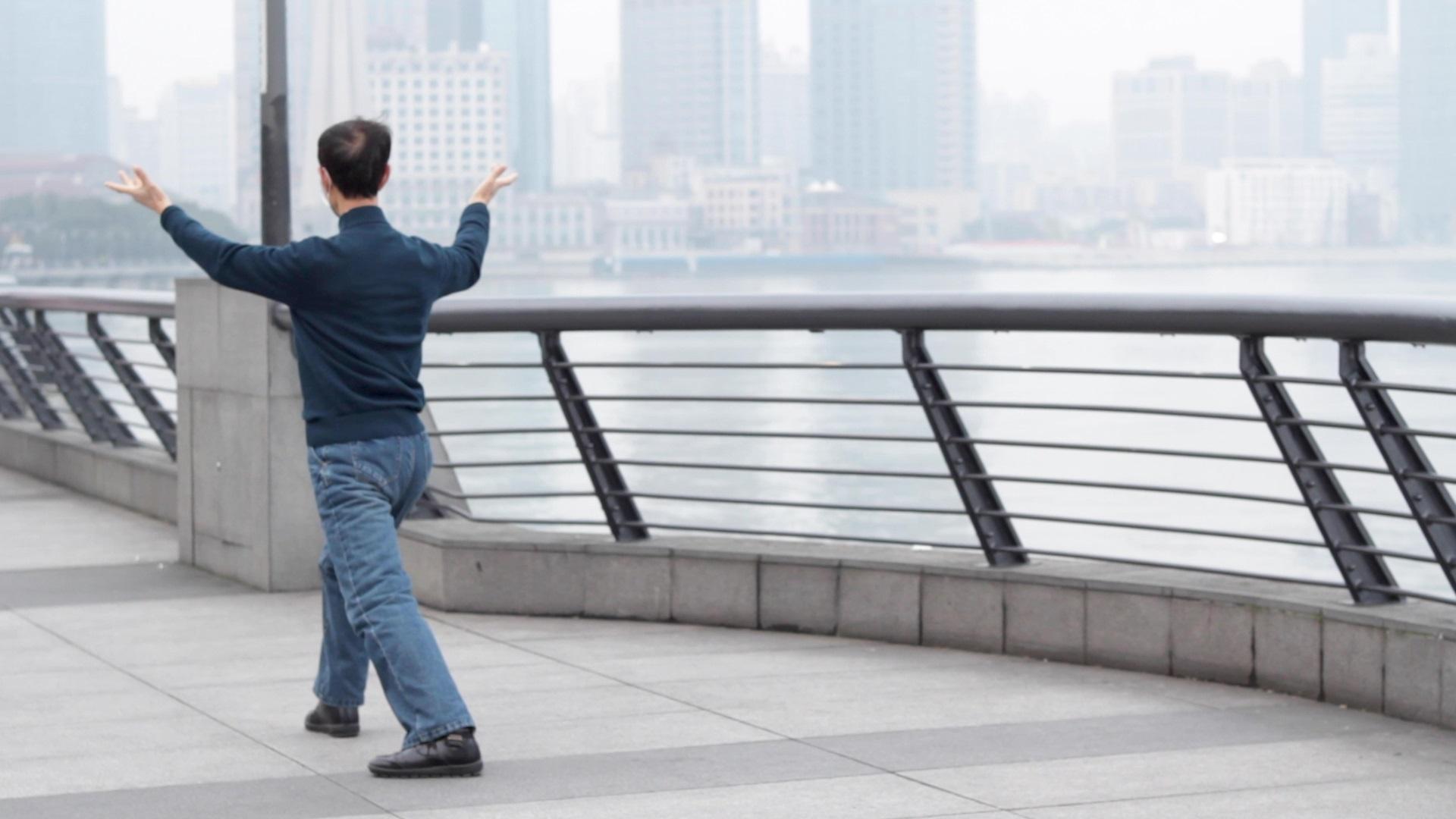 Yuxin Jiang: Empatikus nézőpont című többcsatornás videoinstalláció, részlet, 2021 © Yuxin Jiang
