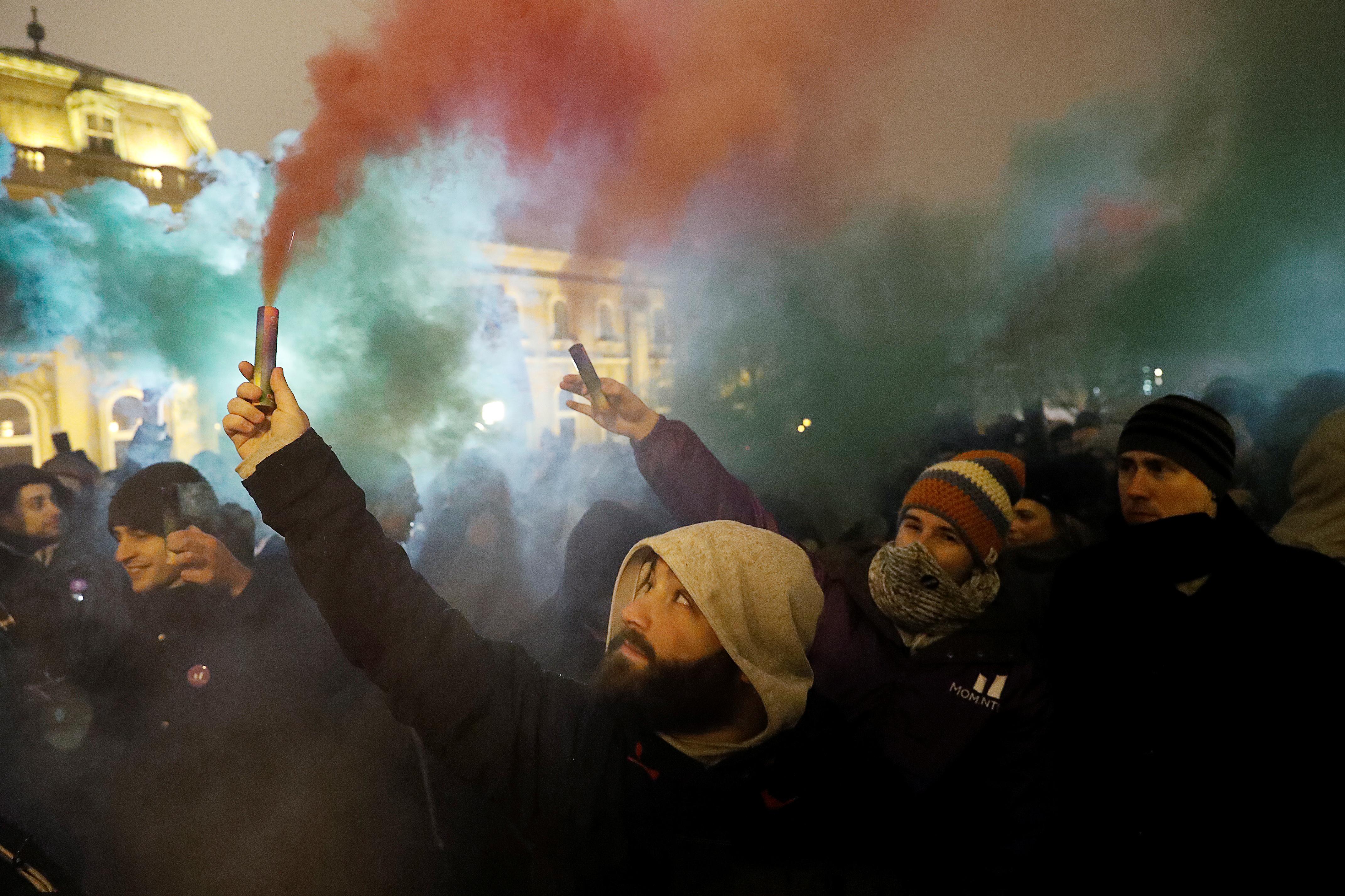 Szabó Bernadett: Magyarország, tüntetés, 2018 © Szabó Bernadett/Reuters