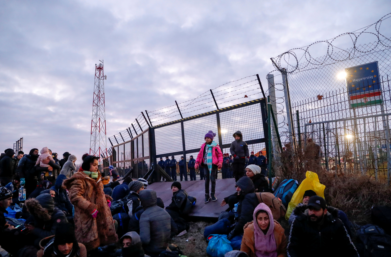 Szabó Bernadett: Menekültek a szerb-magyar határon, 2020 © Szabó Bernadett/Reuters