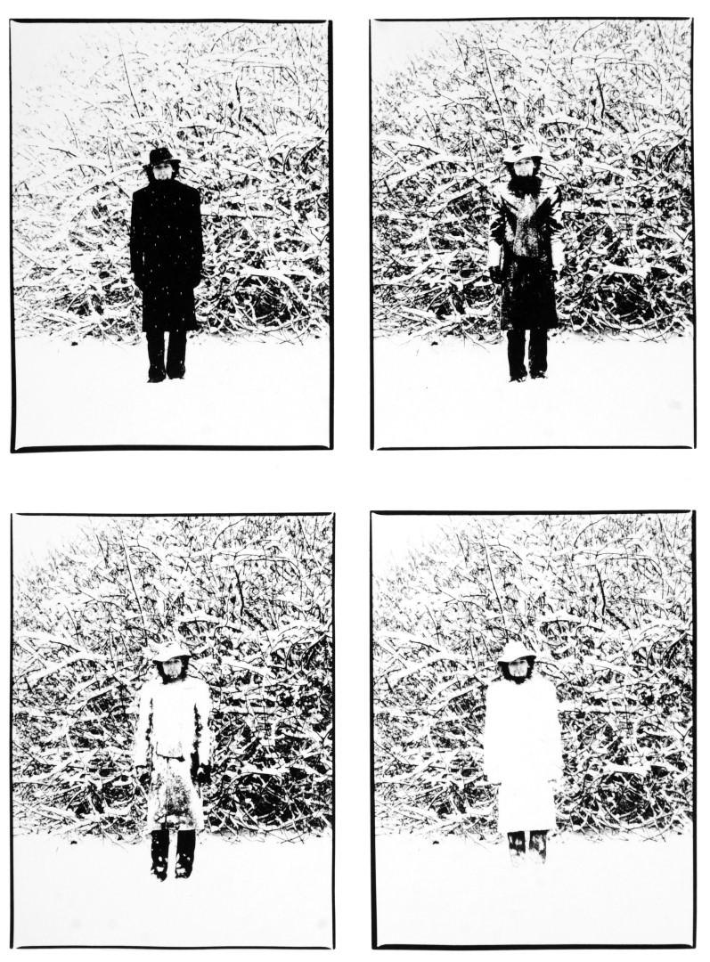 Vécsy Attila, Havas önarckép, Martonvásár I Snowy Self-Portrait, Martonvásár, Hungary, 1978 © Vécsy Attila