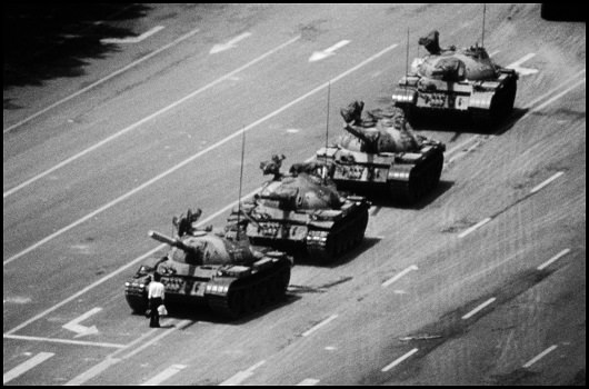 CHINA. Beijing. Tiananmen Square. 'the tank man' 4th June 1989.Contact email:New York : photography@magnumphotos.comParis : magnum@magnumphotos.frLondon : magnum@magnumphotos.co.ukTokyo : tokyo@magnumphotos.co.jpContact phones:New York : +1 212 929 6000Paris: + 33 1 53 42 50 00London: + 44 20 7490 1771Tokyo: + 81 3 3219 0771Image URL:http://www.magnumphotos.com/Archive/C.aspx?VP=Mod_ViewBoxInsertion.ViewBoxInsertion_VPage&R=2K7O3R3JYZHF&RP=Mod_ViewBox.ViewBoxZoom_VPage&CT=Image&SP=Image&IT=ImageZoom01&DTTM=Image&SAKL=T