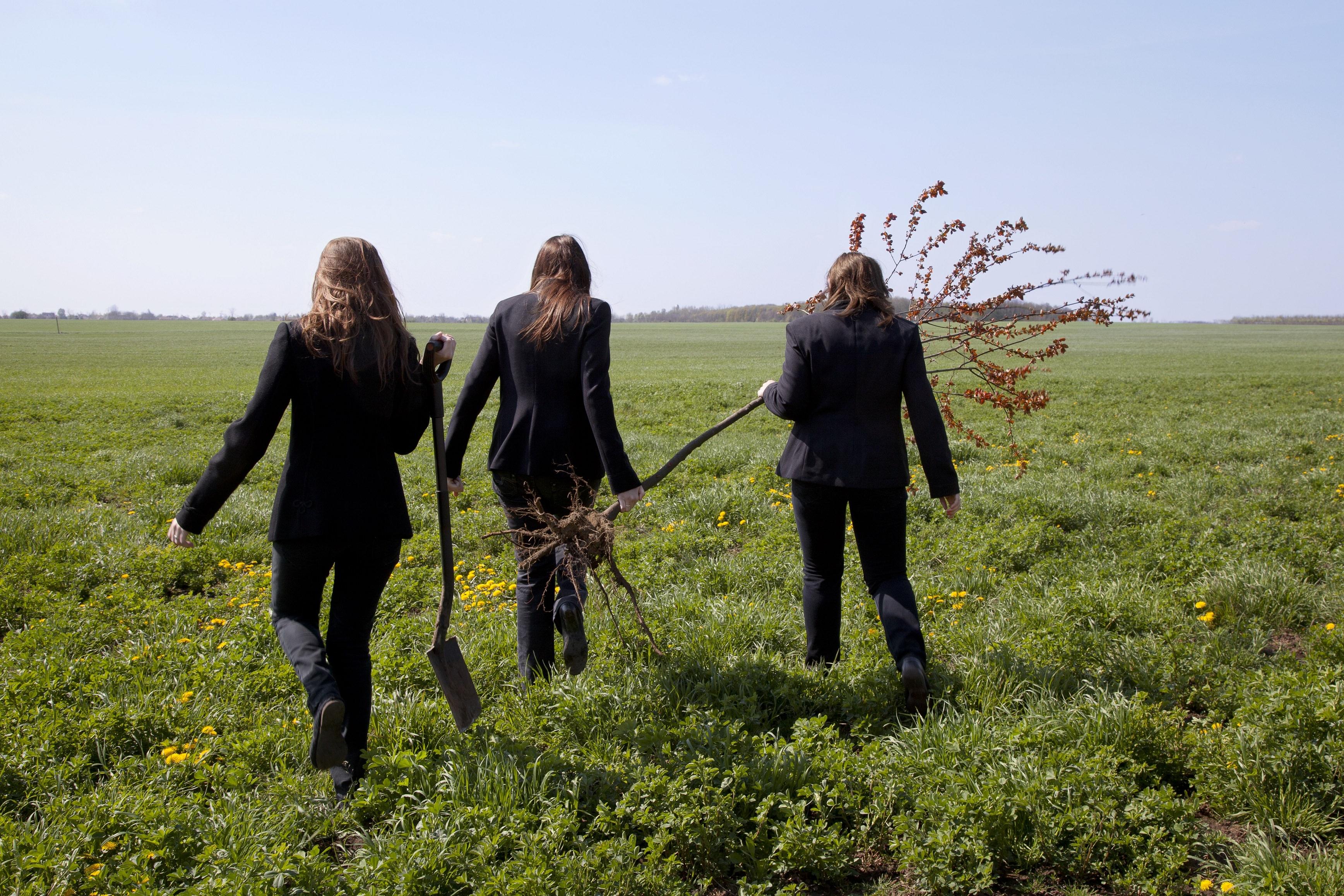 Fátyol Viola: Faültetés 1./Tree Planting 1. (Orando et laborando - Imádkozva és dolgozva sorozat/from the series Orando et Laborando - Praying and Working), 2011