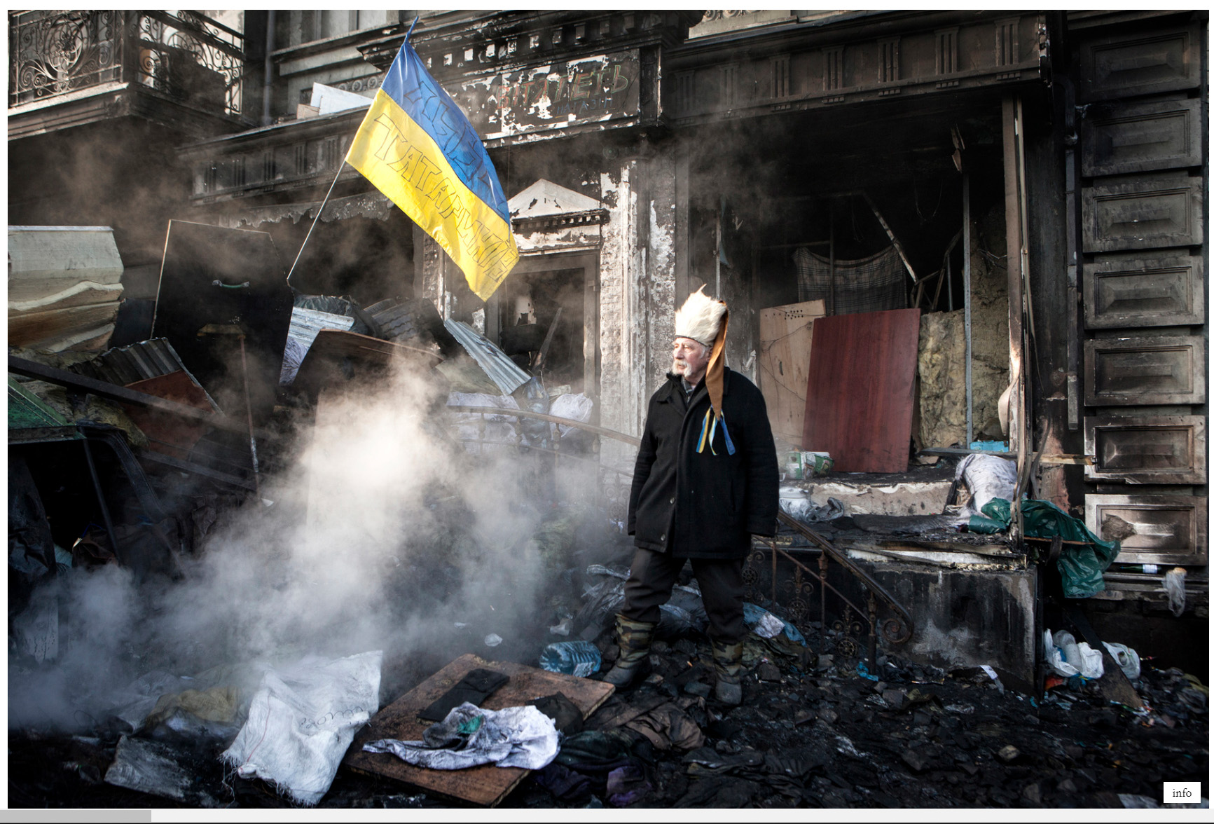 Hirling Bálint: A Majdan falu lakói / Dwellers of the Independence Square, 2014 © Hirling Bálint